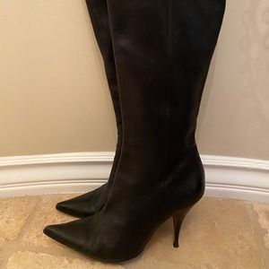 Dior Black Leather Boots